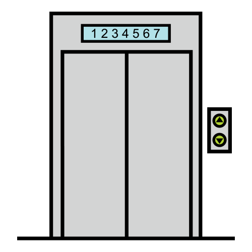 elevator (going down)